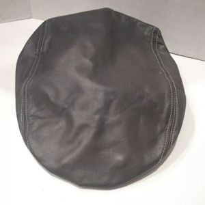 Vtg Newsboy Golf Cabbie Leather Flat Button Hat
